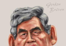 Gordon Brown caricature